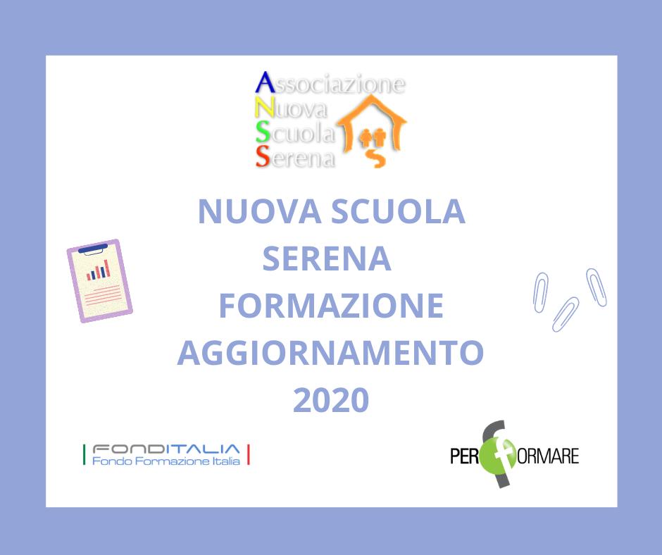 NUOVA SCUOLA SERENA - FORMAZIONE/AGGIORNAMENTO 2020