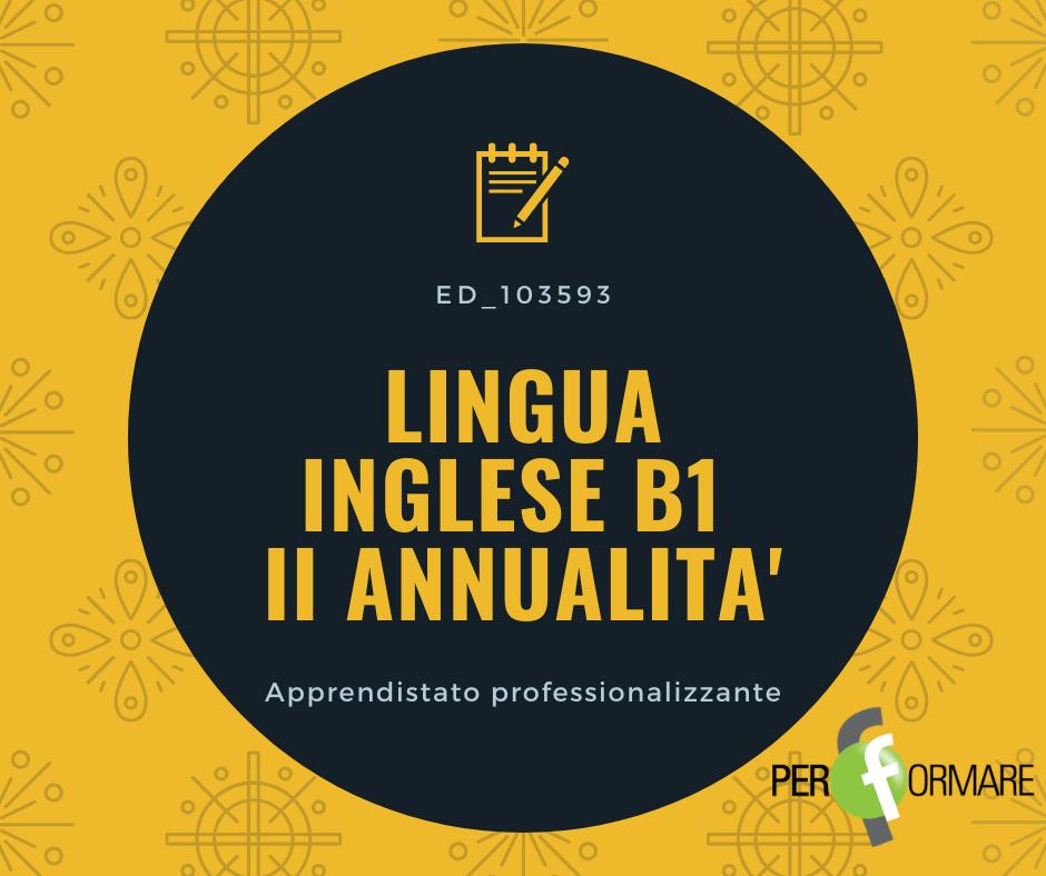 LINGUA INGLESE B1 II ANNUALITA' ED_103593